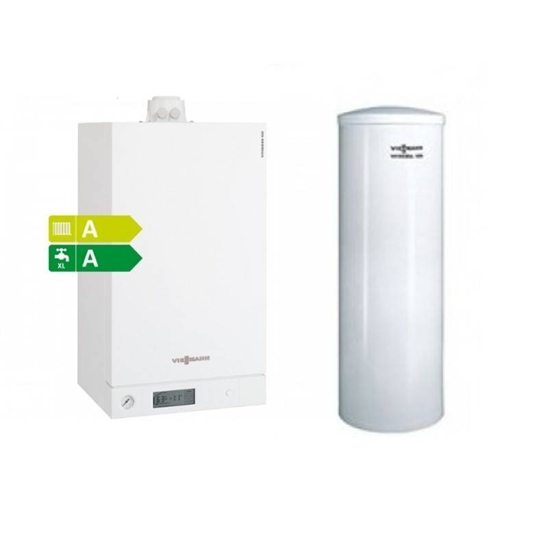 Poza Pachet centrala termica Viessmann Vitodens 100-W 35 kw cu boiler monovalent Viessmann Vitocell 100-W 200 litri