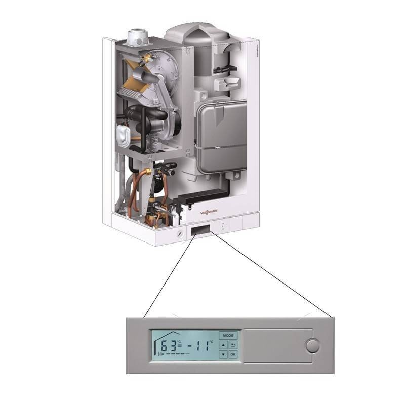 Poza Centrala termica in condensare cu touchscreen Viessmann Vitodens 111 W 26 kW B1LD162. Poza 4702