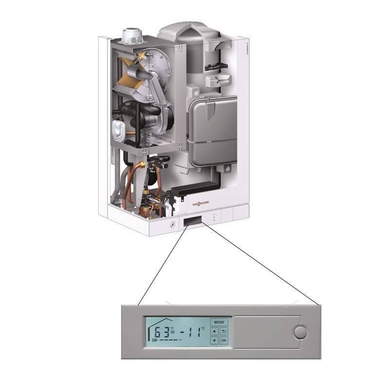 Poza Centrala termica in condensare cu touchscreen Viessmann Vitodens 111 W 35 kW B1LD163. Poza 4706