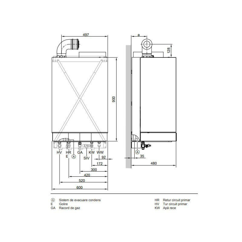 Poza Centrala termica cu boiler incorporat Viessmann Vitodens 222-W 35 kW - pachet premium. Poza 4717