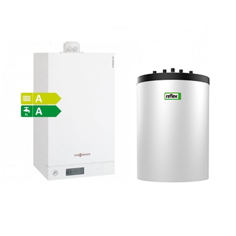 Poza Pachet centrala termica Viessmann Vitodens 100-W 26 kW cu boiler monovalent Reflex 120 litri B1HC400. Poza 4760