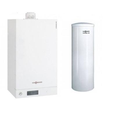 Poza Pachet centrala termica Viessmann Vitodens 100-W 26 kW cu boiler bivalent Vitocell 300 litri B1HC402. Poza 4764
